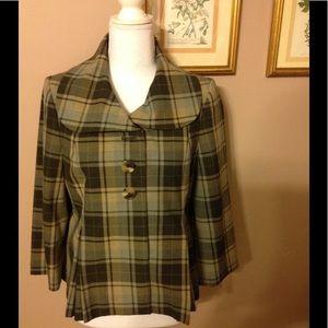 NWOT Isaac Mizrahi for Target plaid jacket/blazer